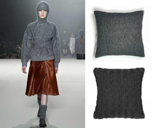 cosy wool Alexander Wang. Recycled wool £19.50 greenandpresent.co.uk. Eliot knit in steel £20 John Lewis