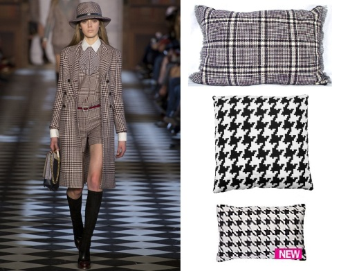 Dogtooth Tommy Hilfiger. Dogtooth check kidney pillow £24 etsy.com uk shop nonatextiles. Majestic dogtooth cushion £20 furnish.co.uk. Dogtooth cushion £11 Very.co.uk