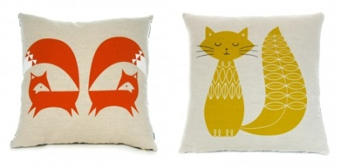 fox-cushion-orange-robin-mould £28 Howkapow