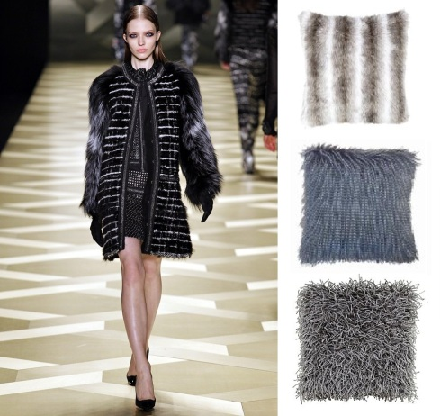 furry Roberto Cavalli. grey luxury faux fur £7.99 dunelm mill. grouse slate faux fur £12.99 dunelm mill. textured silver £7 Asda