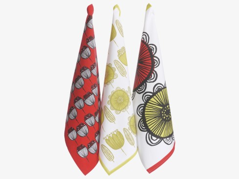 Habitat Freda tea towels set of three retro