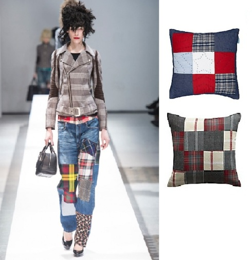 Junya Watanbe patchwork. Little home stars and stripes £15 John Lewis. Colours divino patchwork £9.98 B&Q