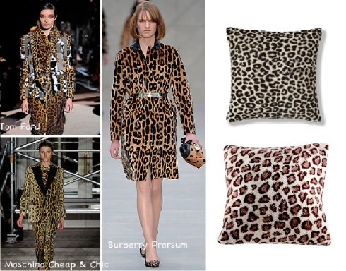 Tom Ford leopard print. Animal print chenille £15 M&S. Animal print £4 Asda.