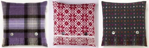 Bronte check purple cushion