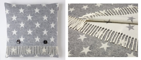 Bronte star cushion grey