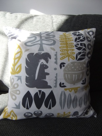 Handmade cushion in Scion Woodland fabric