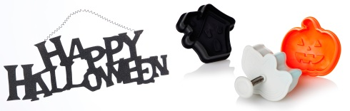 Wilko Halloween Sign Happy Halloween Glitter Black - £2.50