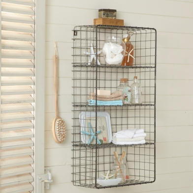 BATHROOM Wirework shelf £49.95 Livelaughlove.co.uk