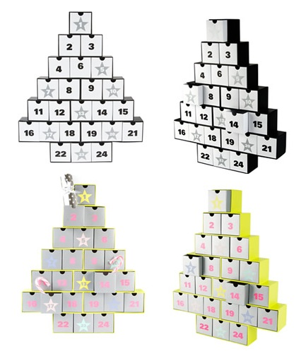 black and white reusable advent calendar