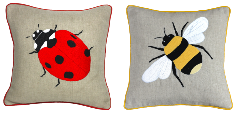 Garden gifts ladybird cushion bee cushion