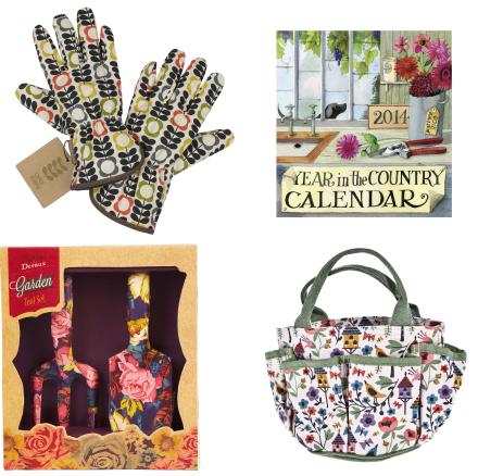 Garden gifts trowels orla kiely gloves garden bag garden calendar
