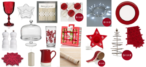 M&S Christmas table selection
