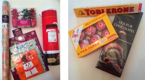 Poundland Christmas wrapping kit
