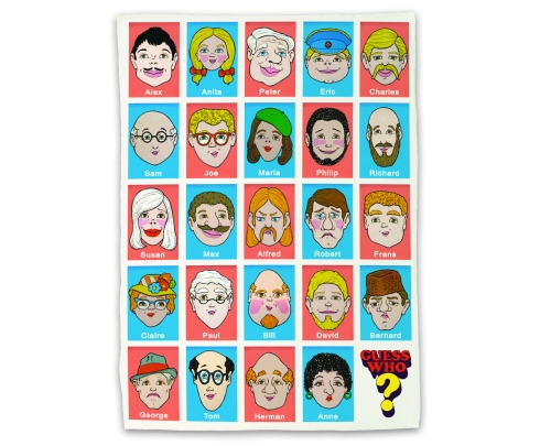 Guess Who tea towel £7.95 prezzybox.com