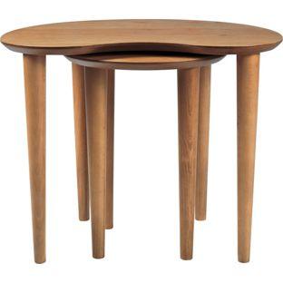 Hygena Emmett nest of tables oak veneer £99.99 Homebase