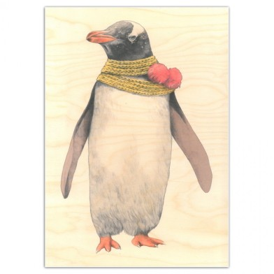 penguin wooden poster graham and green