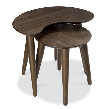 Skandi walnut nest of tables £119.99 Dunelm Mill