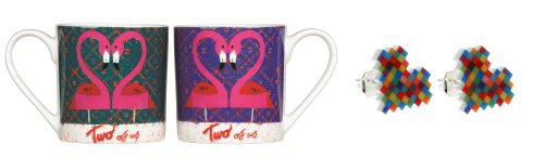 Valentines mug and earrings