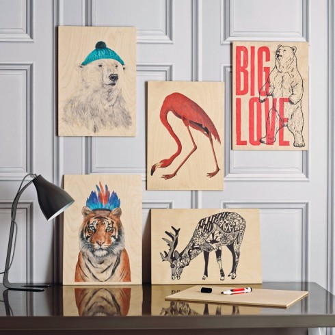 wooden posters from Graham and Green