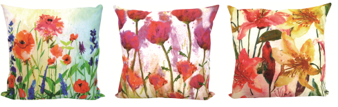Dunelm Mill floral cushions