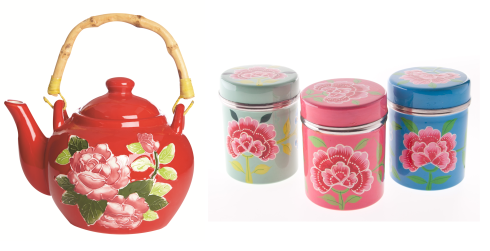 Gypsy folk floral homewares