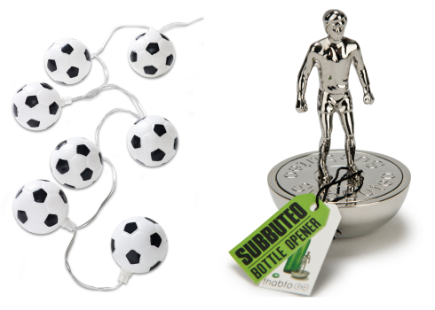 football fairy lights and subbuteo bottle opener