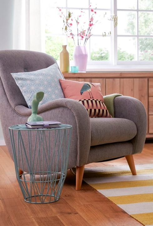 Pastels shoot - accent chair close up