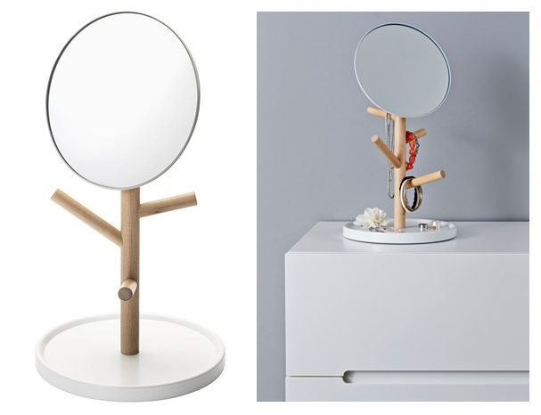 Mirror with jewellery stand the treasure hunter well for Ikea stand miroir