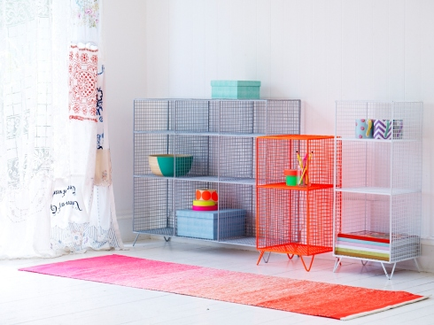 Oliver Bonas wire furniture lifestyle shot