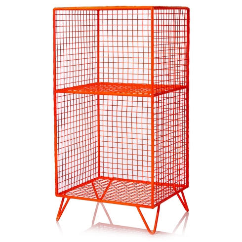 Orange Iron Storage Shelf £60 Oliver Bonas NEW SEASON