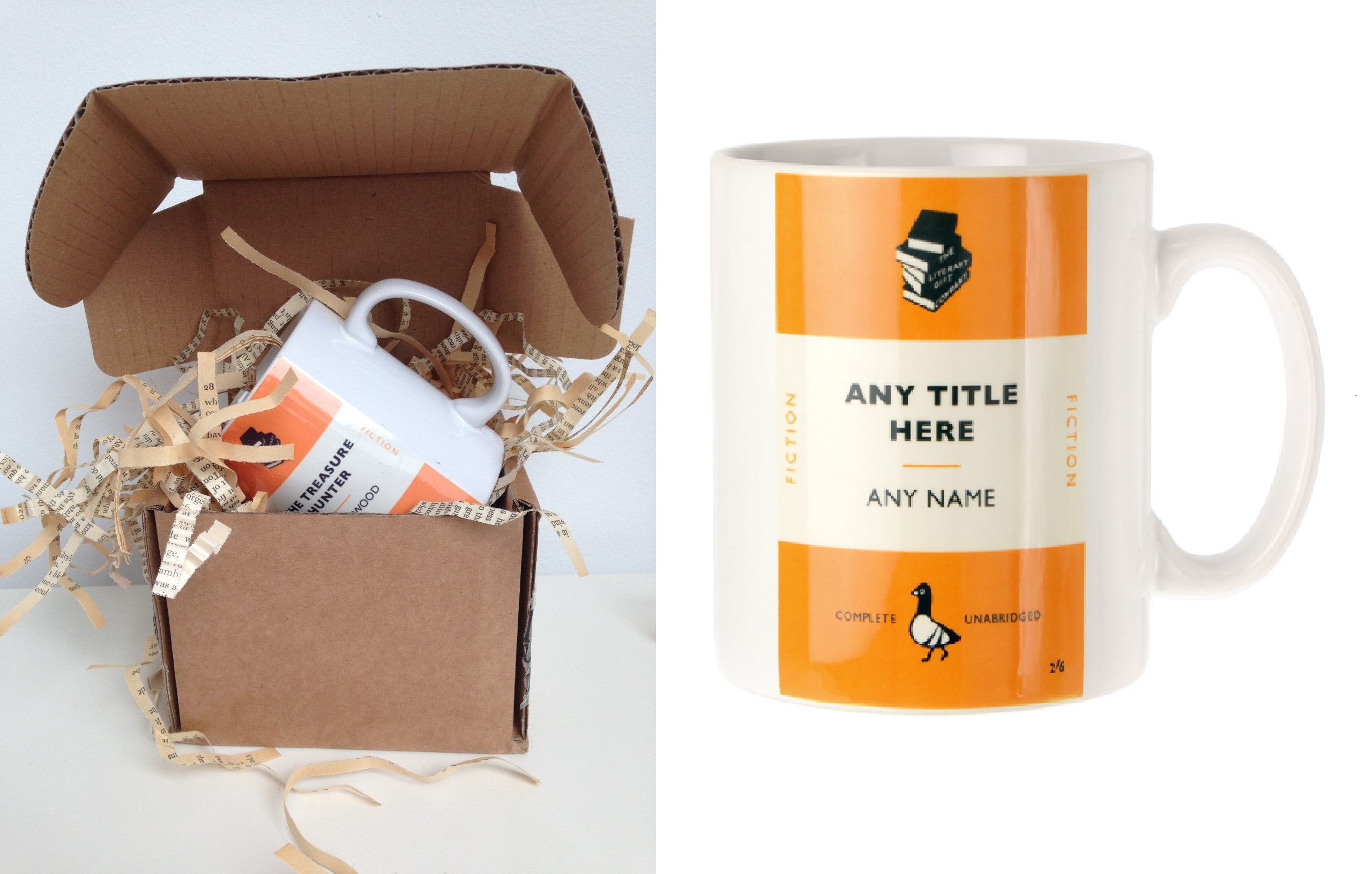 Penguin Book Cover Gifts : Personalised penguin book cover the treasure hunter