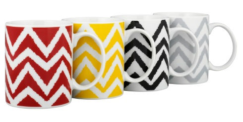 Chevon print mugs £5 for four George at Asda