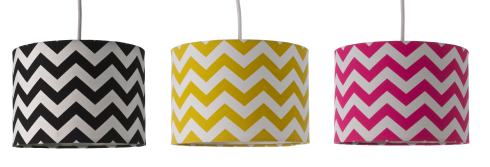 Chevron lampshades from the range