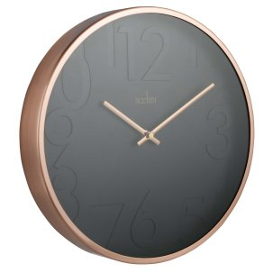 CITY Acctim copper wall clock £30 Sainsbury's (angle shot)
