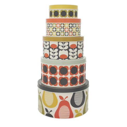 COUNTRY Orla Kiely set of 5 Cake Tins £37 Uniqueandunity.co.uk
