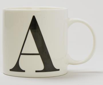 letter a mug Matalan £2