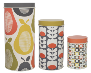 pear canisters by orla kiely