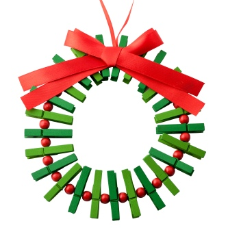 POUNDLAND CUT OUT Peg wreath card holder £1 Poundland