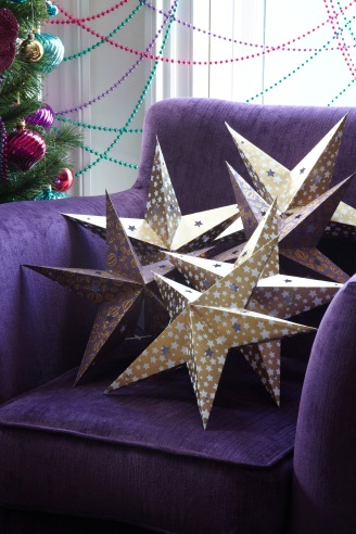 POUNDLAND LIFESTYLE paper stars on chair two for £1