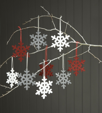 SCANDI LIFESTYLE Felt snowflakes £6 for 9 Next