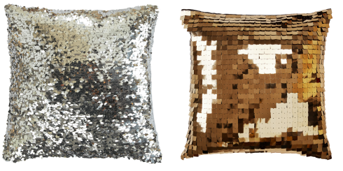 sequin cushions pillows
