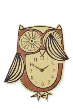 THREE OF A KIND Owl wall clock £16 Next