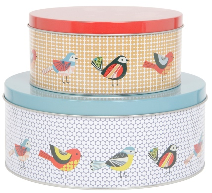 Tesco Retro Bird Baking Tins 2 for £10
