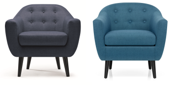 blue mid century chair comparison
