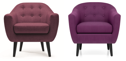purple mid century chair comparison