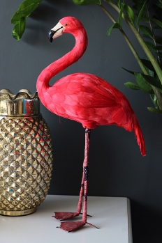 LIFESTYLE SHOT 4 Domingo the Fabulous Flamingo artificial bird £49 Rockett St George