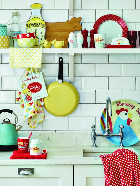 George Home SS15 bright retro kitchen farm fresh range