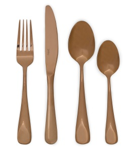 Copper effect cutlery £32 Next