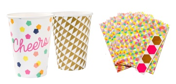 Party Time Geo Cups £3.99 for 12 (six of each design) Candleandcake.co.uk