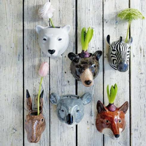 POSS OPENER PIC ceramic animal wall vases £35 Graham and Green (this is low res - high res is available if needed)